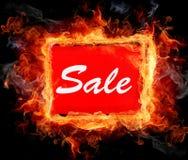 Sale logo Försäljningsrabattkupong Arkivfoto