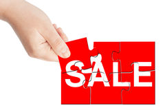 Sale logo puzzle Stock Photography