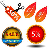 Sale logo set Stock Photos