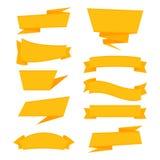 Sale märker det grafiska beståndsdelbandet i pappers- origamistil Arkivbilder