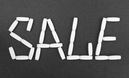 Sale made of pills Stock Images