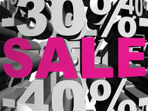 Sale magenta Royalty Free Stock Photography