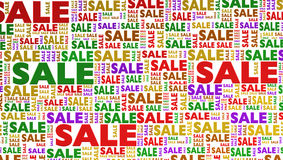 Sale in many variations isolated on white Royalty Free Stock Image