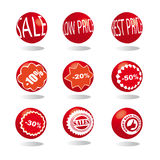 sale marbles icons set Royalty Free Stock Photos
