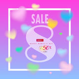Sale 8 march Royalty Free Stock Photography