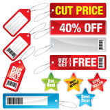 Sale marks, tags and stickers Stock Photography