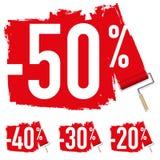 Sale med ett 50% rabatttecken vektor illustrationer