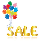 Sale message with ballons Royalty Free Stock Photo