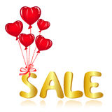 Sale message with ballons Royalty Free Stock Photography