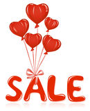 Sale message with balloons. Royalty Free Stock Photo