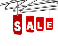 Sale message conceptual design isolated on white. Shopping discounts symbol concept Stock Photos