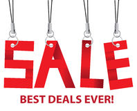 Sale message hanging in the air Stock Photos