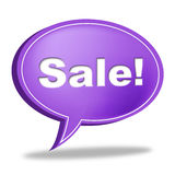 Sale Message Means Correspond Reduction And Messages Stock Photography