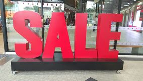 Sale message sign in red  Stock Image