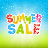 Sale message on sunny background Stock Photos