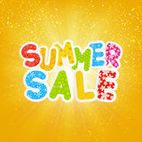 Sale message on sunny background Royalty Free Stock Images