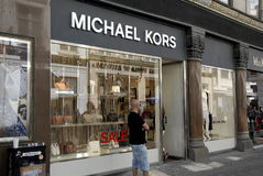 SALE AT MICHEAL KORSE STORE Royalty Free Stock Images