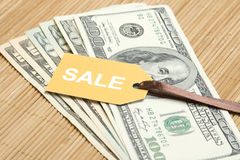 Sale money. Dollar Royalty Free Stock Photography