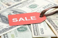 Sale money. Dollar Stock Photo