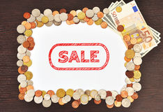 Sale and money Stock Photography