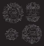 Sale Monograms Black Royalty Free Stock Image