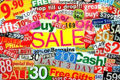 Sale Montage Royalty Free Stock Photo