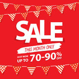 Sale this month heading design for banner or poster. Sale and di Stock Image