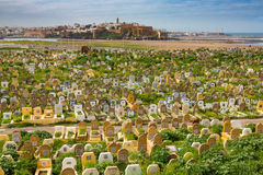 Sale, Morocco - March 06, 2017: Arab Cemetery in Sale, Morocco Royalty Free Stock Images