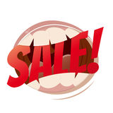 Sale mouth Royalty Free Stock Photo