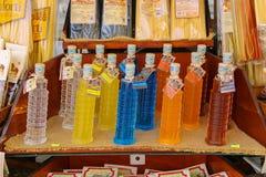Sale of national Italian alcoholic drinks Stock Photos
