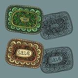 Sale Nature vector Labels. Beautiful decorative set of Sale Nature vector Labels Stock Photos