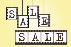 Sale negative photo. Sale label negative photo over yellow background. vector Stock Photography