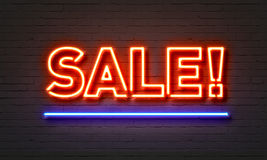 Sale neon sign Royalty Free Stock Photography