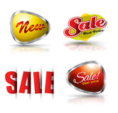 Sale and new banner set. royalty free illustration