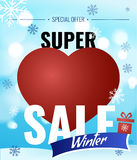 Sale new year poster. Royalty Free Stock Image