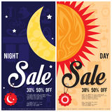 Sale night & day ad. Sale night & day ad graphic Royalty Free Stock Photography