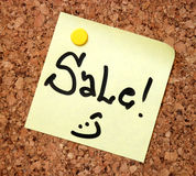 Sale note Royalty Free Stock Photos