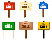 For sale notice board Stock Image
