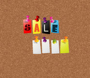 Sale notice concept Royalty Free Stock Image