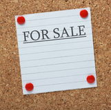 For Sale Notice Royalty Free Stock Images