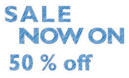 Sale Now On Stock Images