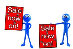 Sale now on advert board Royalty Free Stock Image