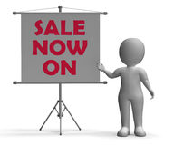 Sale Now On Board Shows Special Offers Royalty Free Stock Images