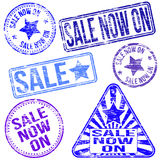 Sale Now On Rubber Stamps Stock Images