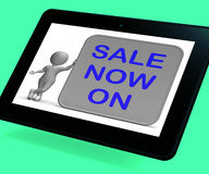 Sale On Now Tablet Shows Product Specials And Lower Prices Stock Photo