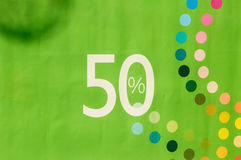 Sale with number percent. Sale in fashion store with number of percent Royalty Free Stock Photos