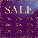 Sale numbers advertising stock images