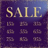 Sale numbers advertising stock image