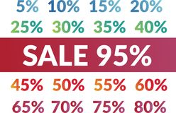 Sale numbers set Stock Images