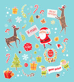 Sale Objects for Creation New Year Greeting Card Stock Image